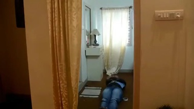 Desi Student Bathroom scene