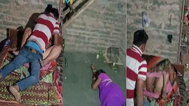 Dehati Randi fucking caught secretly by a peeping tom