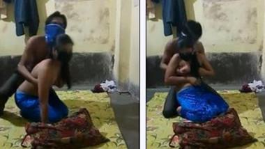 Languid XXX Desi woman can't resist man touching her natural titties