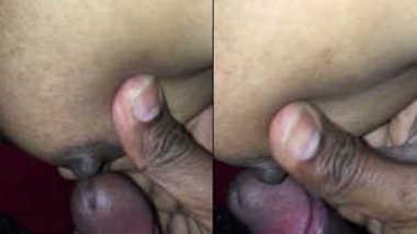 Desi female bares her sex boobs and rubs XXX nipple against man's cock