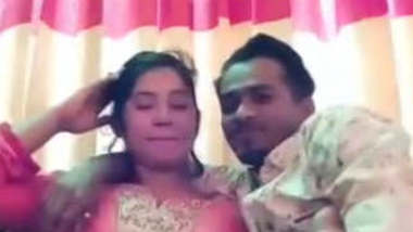 newly wed couples romance in sofa leaked vdio