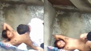 Nude Indian girl fucked on a rooftop
