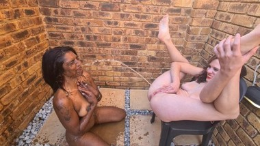 A desi Indian slut licking my white tiny pussy clean after I used her as my human toilet   outdoors