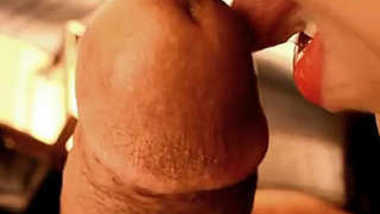 Desi female takes guy's XXX tool in mouth for oral sex and cum in mouth