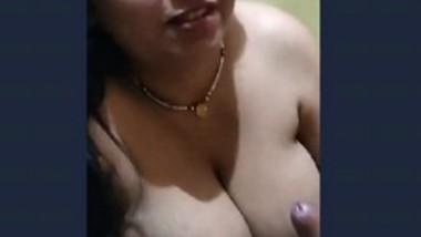 Desi big boobs aunty Sucking husband cock