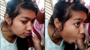 Cute Assamese college girl blowjob to her lover