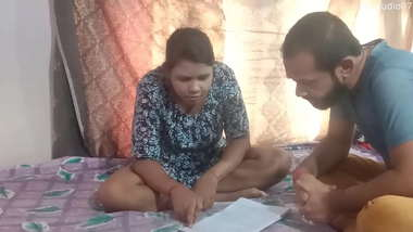 Indian Home tutor fucking sexy teen student at home, enjoy with clear audio