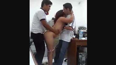 Indian Office threesome Fucking Vdo