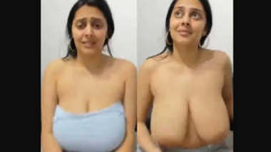 Hot NRI girl showing her nude body