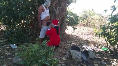 Fucking Hot Aunt Outdoor First time Christmas Santa Claus