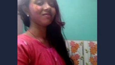 Desi village girl selfie video making