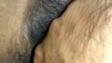 BF teasing tamil gf hairy dry cunt with clear...