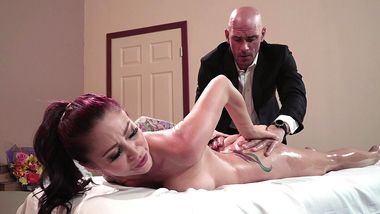 Monique Alexander's bald assistant fulfills all MILF's XXX desires