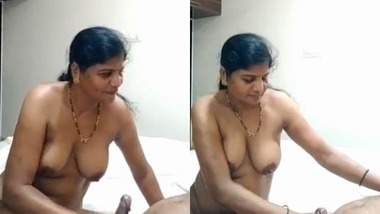Marathi mature wife oiling hubby's dick