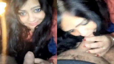 Indian babe is almost seizing when boyfriend shoves XXX tool in mouth