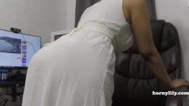 Mature's Desi friend HornyLily flirts and pees...
