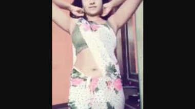 Desi Teacher Removing Saree And Showing Bra and pantie