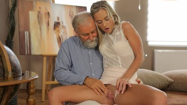 OLD4K Teen celebrates end of all exams by having sex with old teacher