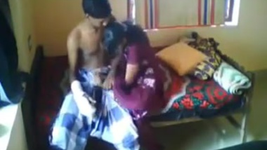 Tamil guy fucks his girls in the bed room