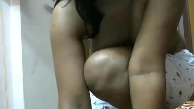 Indian masked chick flashing on webcam-2