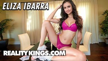 Reality Kings - Eliza Ibarra is no card shark but she can take a big dick